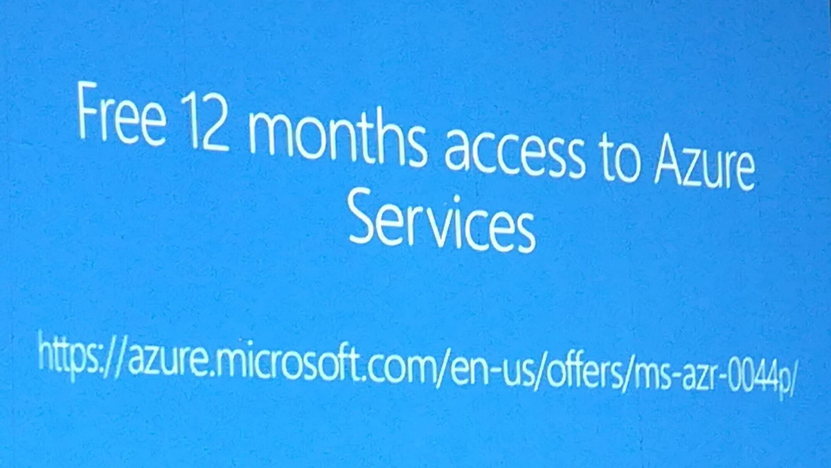 Free 12 months access to Azure Services