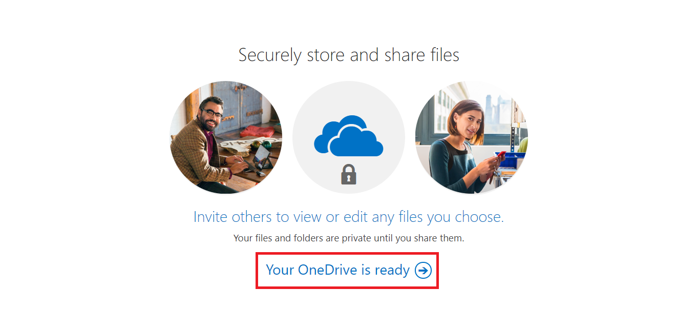 Your OneDrive is ready