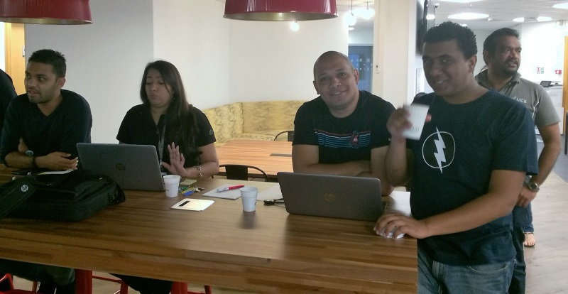 Some of the MCB team members at the Digital Factory